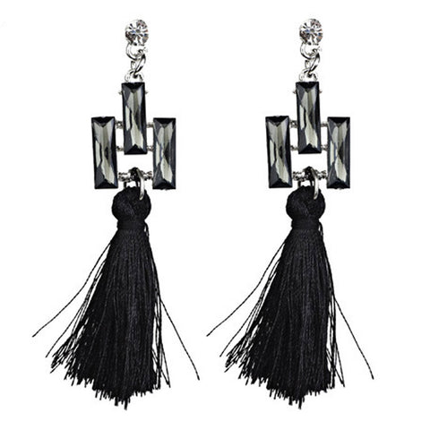 Bohemian Women Ethnic Hanging Rope Tassel Earrings BK