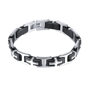 New Style Stainless Steel Bracelet for Men Cross Design Link Chain Men and Women Matching Jewelry Wristband Bracelet Link
