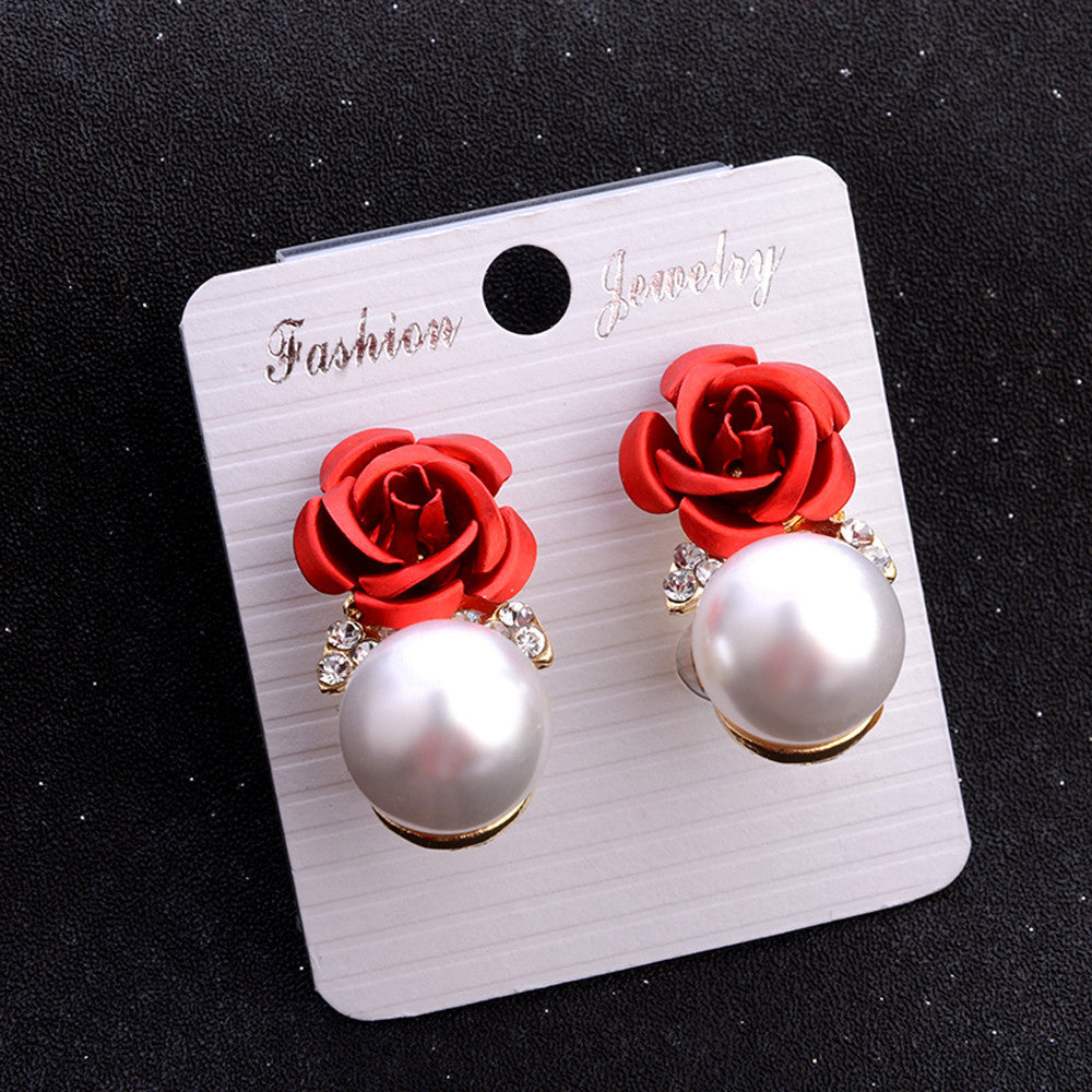 Fashion Jewelry Bohemia Flower Rhinestone  Earrings For Women Summer Style
