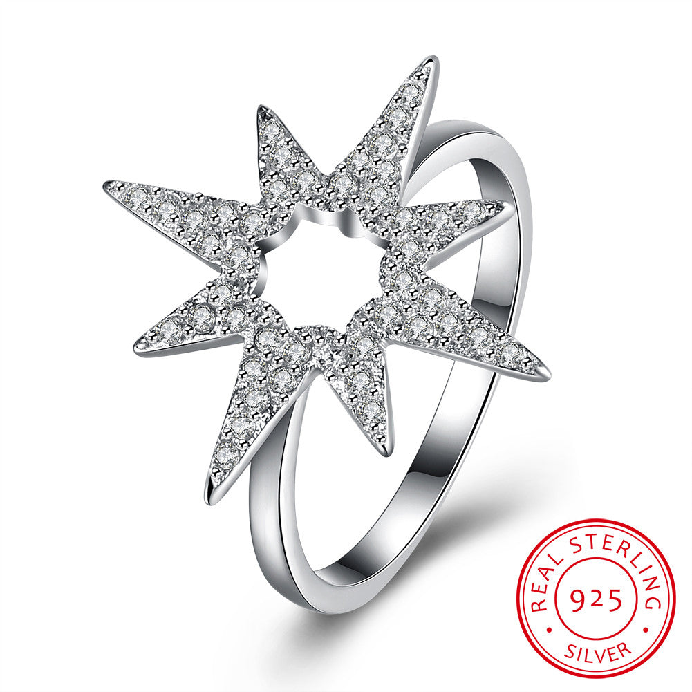 925 Sterling Silver Ring flower ring jewelry wholesaler