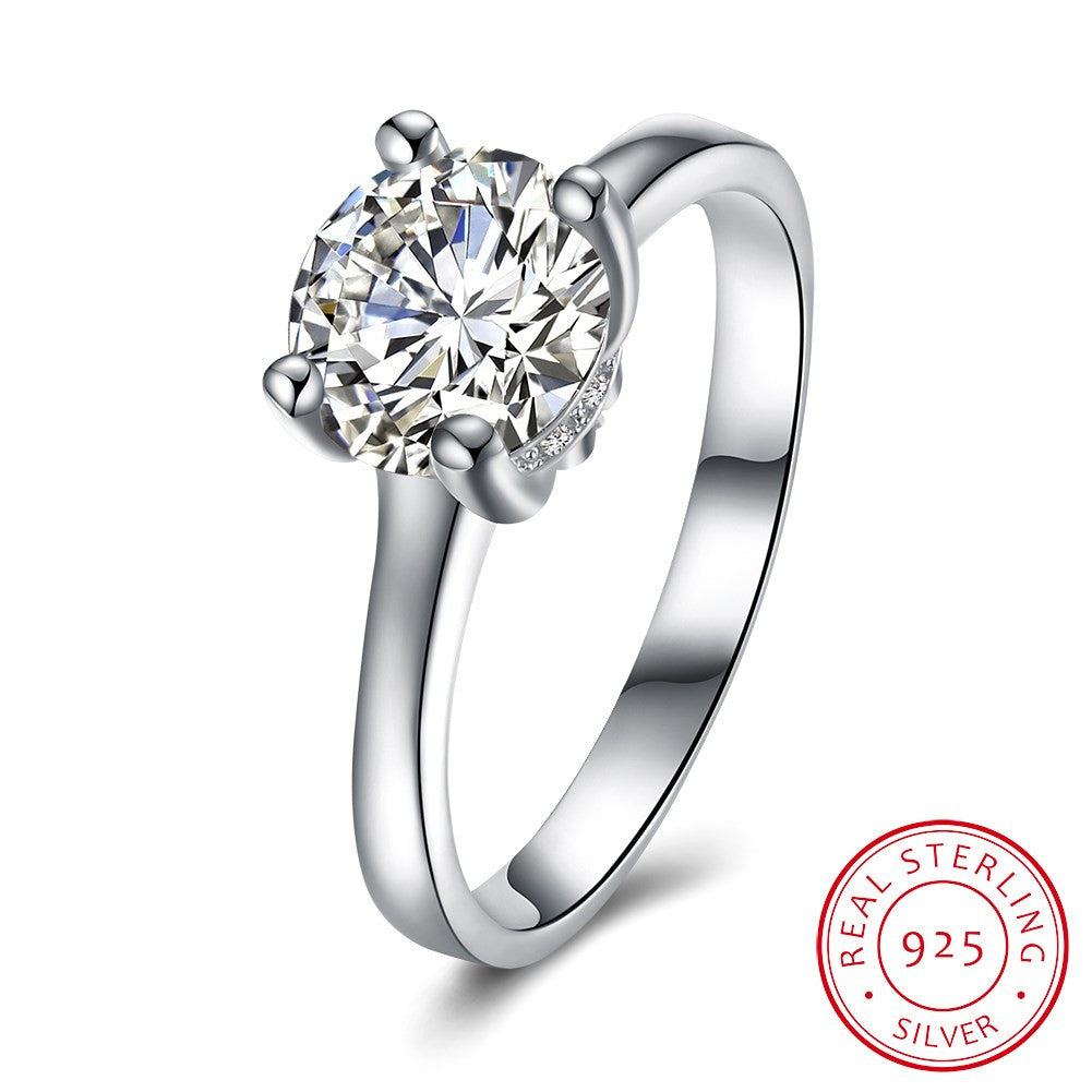 925 Sterling Silver Ring 925 silver jewelry boutique diamond wedding ring