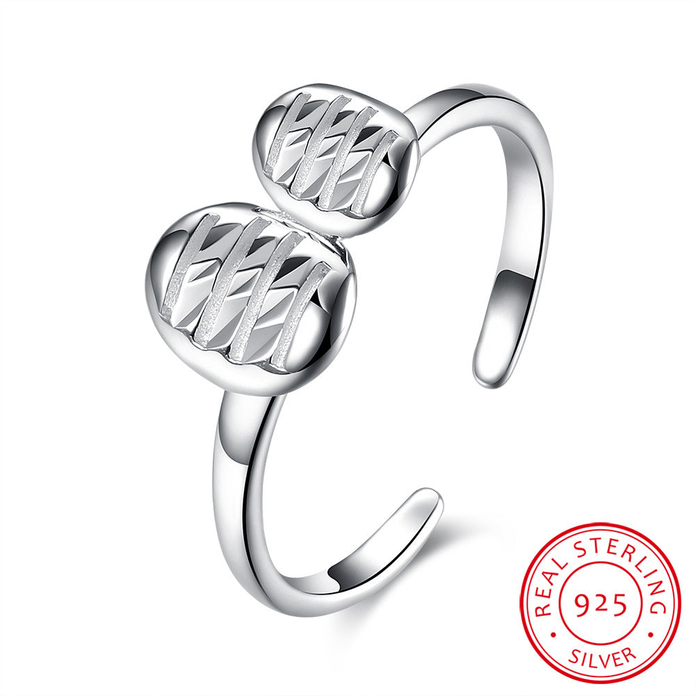 925 Sterling Silver Ring Leaf opening ring jewelry wholesalers wholesale website