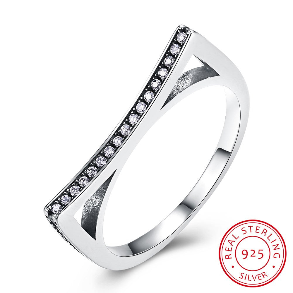 925 Sterling Silver Ring Trend personality new sterling silver retro with black zirconium ring