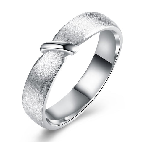925 Sterling Silver Ring Fashion frosted personality rope design boutique romantic jewelry