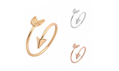 Arrow Ring Fashion Ring for women Adjustable Engagement Wedding Gift