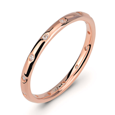 2018k gold ring Europe and America Micro inlaid zircon 925 sterling silver ring Women's accessories