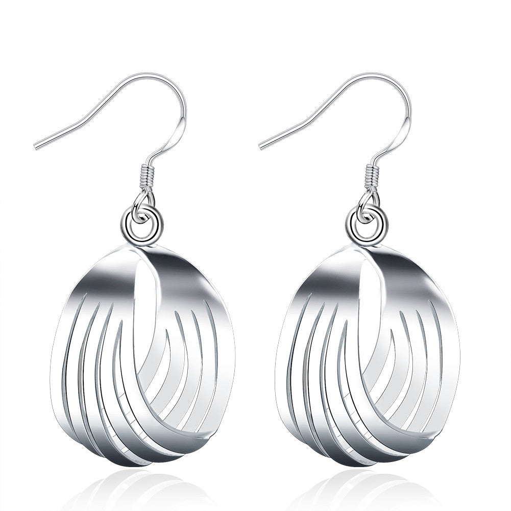18K White Gold Plated Sea-Shell Laser Cut Earring