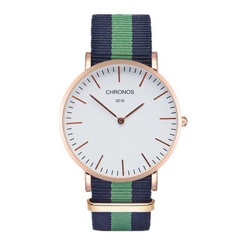 Brand Watch Men Women Fashion Casual Watches Clock Classical Nylon Strap Wrist Watches