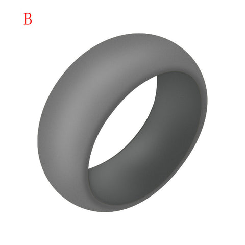 1X Silicone Wedding Engagement Ring Men Women Rubber Band Outdoor Sport