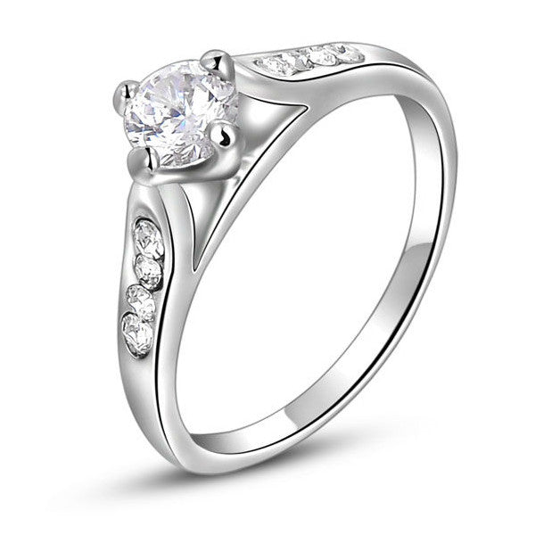 18K White Gold Plated Florence Promise Ring