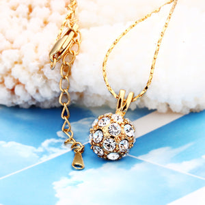 Gold Plated Pav'e Crystal Classic Necklace
