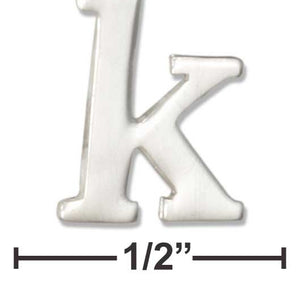 "Sterling Silver Lower Case Letter ""k"" Initial Charm"