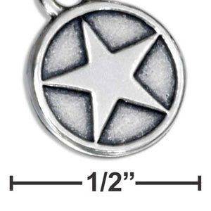 Sterling Silver Us Airforce Star Emblem Charm