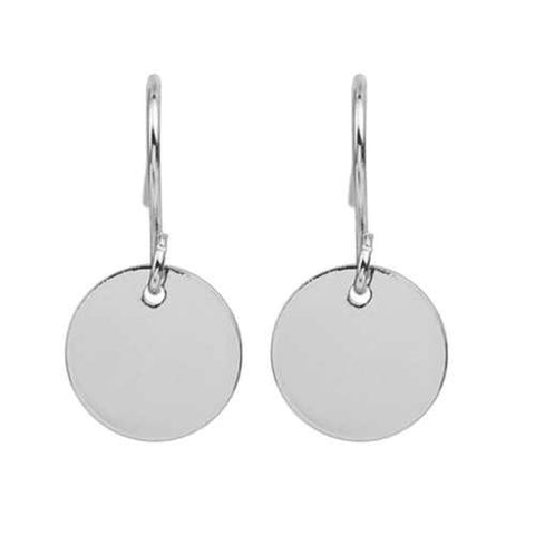 Disk Round Minimalist Circle Earrings Monogram Blank Women Jewelry