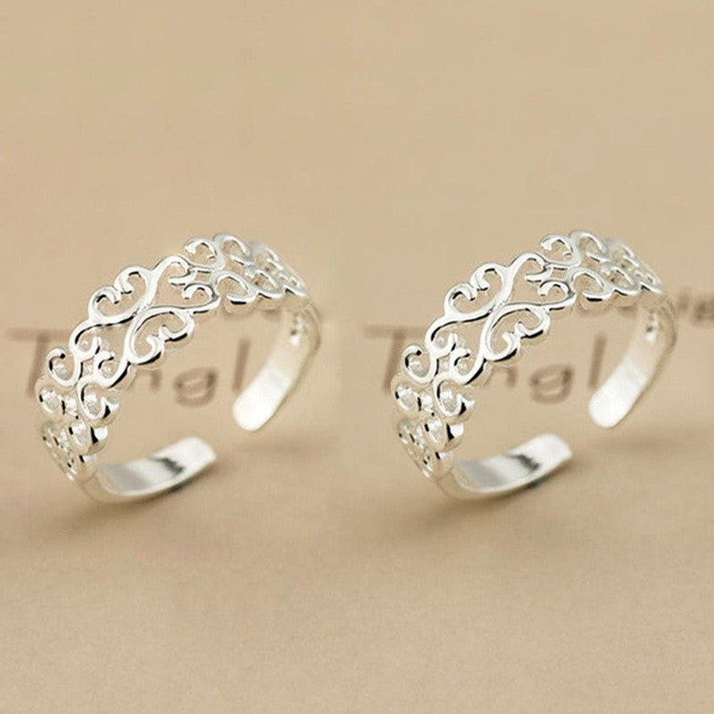 925 Sterling Silver Plated Ring Women Fashion Jewelry