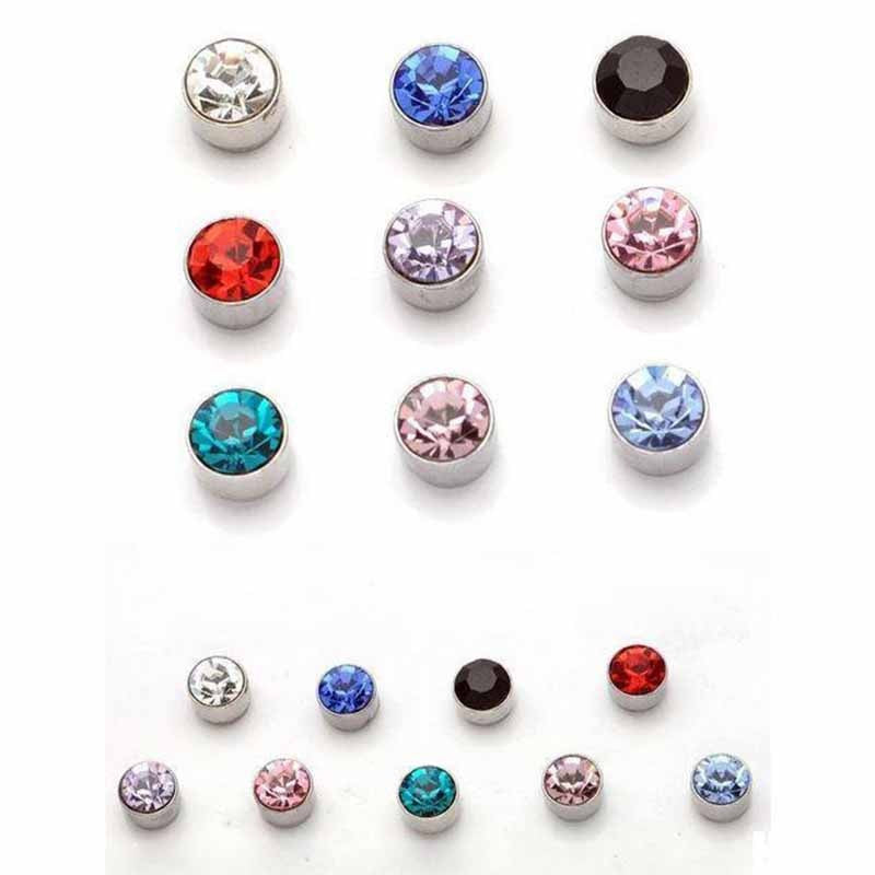Best HO AU 2 Pcs Women Men Magnetic Magnet Ear Stud Earrings Clip On No Ear Hole Gift