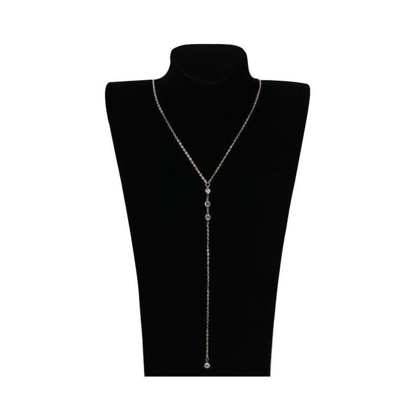 Back Drop Collier Beach Crossover Back Rhinestones Wedding Dress Accessories Backless Necklace For Women