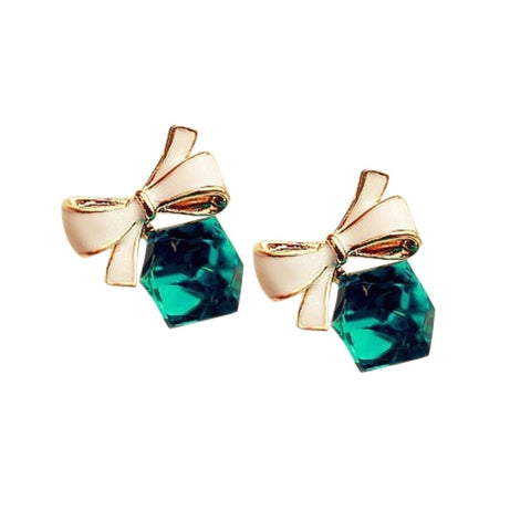 Charming Korea Wind hot fashion temperament hundred ears nail crystal box lovely butterfly knot ear nail
