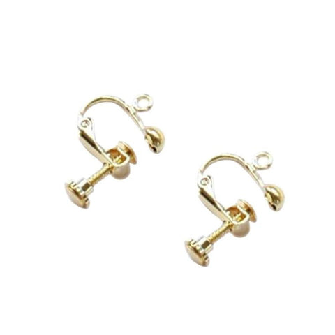 2pcs Fashion Clip on Earring Converter with Easy Open Loop Lady Ear Clip Jewelry