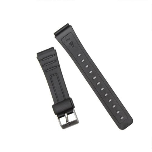1Pcs New Replacement Black Rubber Watch Strap Band for Mens Fashion Watch