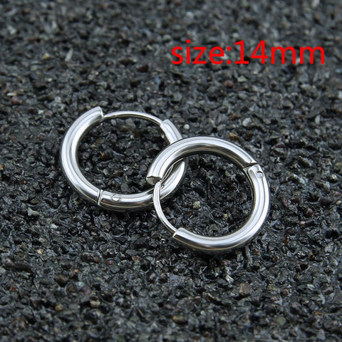 18K Gold Plating Earrings Fashion High Quality Unisex Hollow Hoop Stud Earring Jewelry