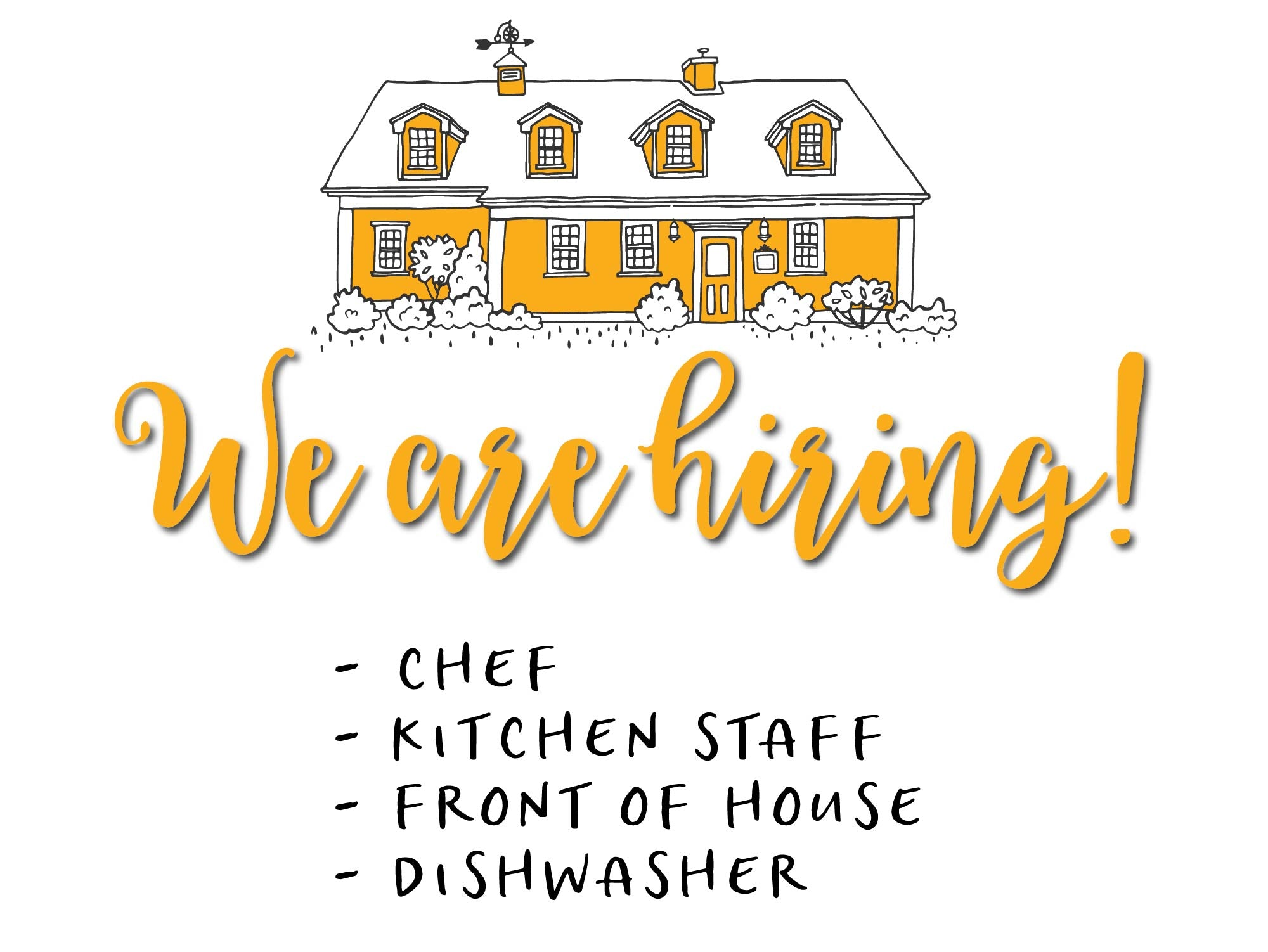 The Biscuit Eater Cafe & Books is hiring for chef, kitchen, front of house and dishwasher