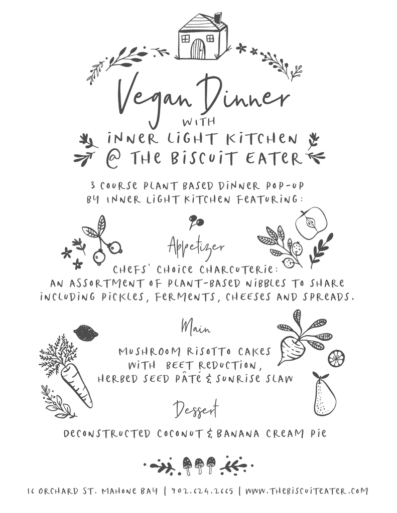 Vegan Dinner Pop Up with Inner Light Kitchen