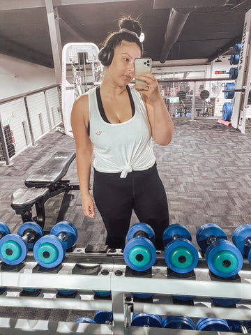 Saam at the gym