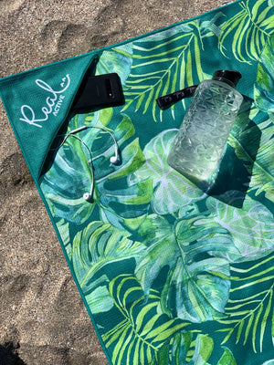 Real Active 'Lush Tropics' Beach Towel