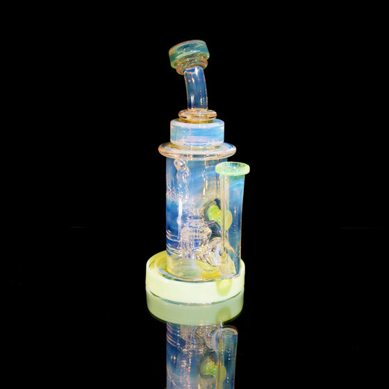 Fumed & Carved Incycler - Slyme - 14mm Female