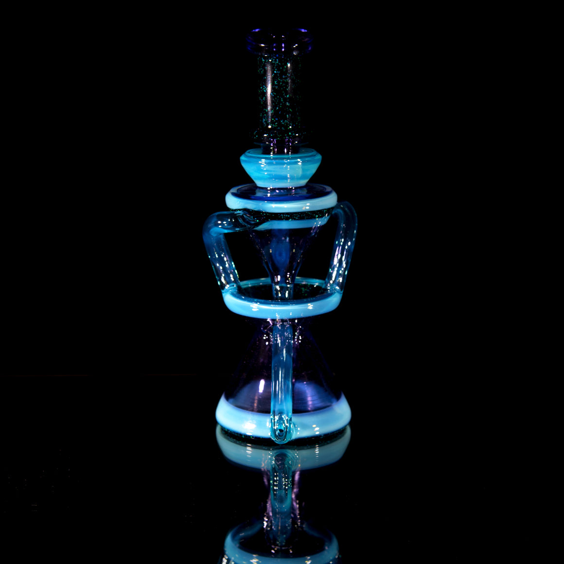 Double-uptake Floating Recycler - Meta-Terrania/Purple Rain/Crushed Opal - 10mm Female