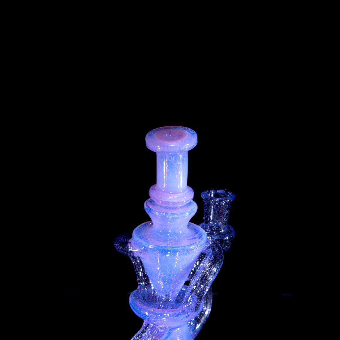 Mini Double-uptake Floating Recycler - Pink Slyme/Purple Rain - 10mm Female