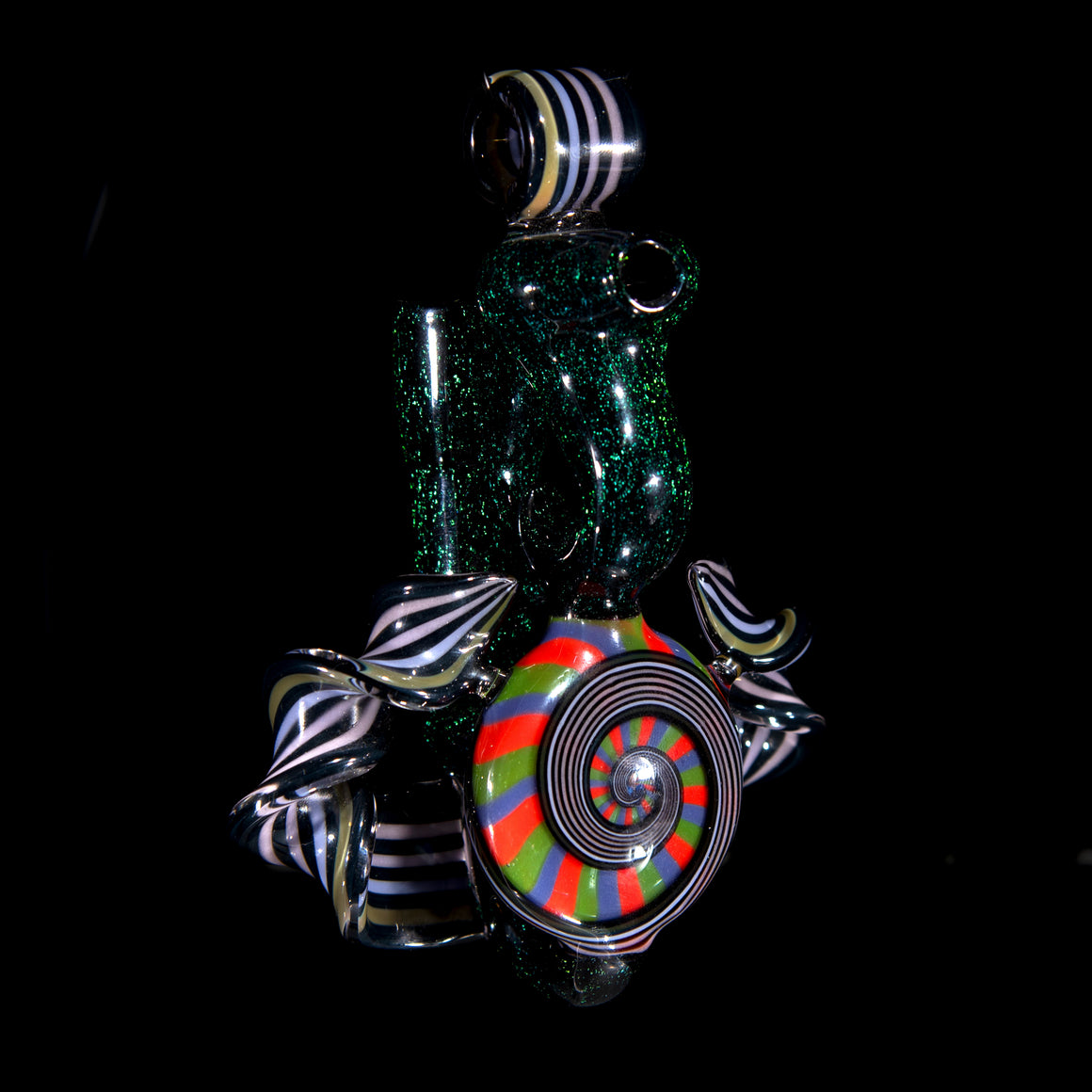 Pendant Rig #1 - RGB Staircase with Dichro and Twisted Canes