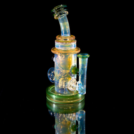 Fumed & Carved Klein Recycler - Millennium Moss - 14mm Female