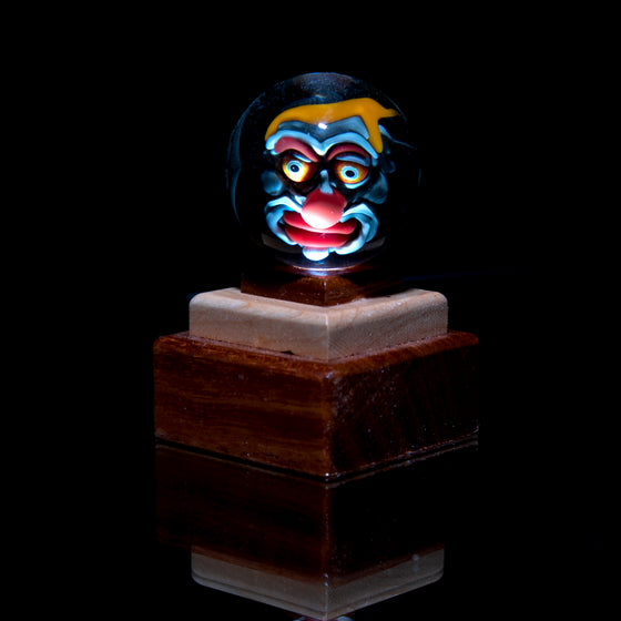 Wooden Single Marble Stands w/ Built-in LED Light