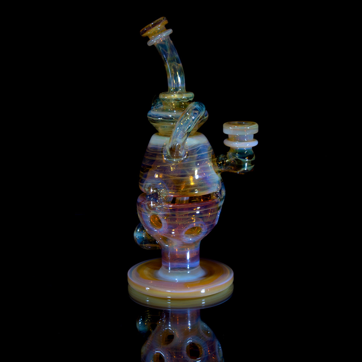 Double-Uptake Faberge Egg Klein Recycler  - NS Yellow - 14mm Female