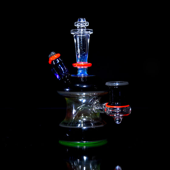 UV Crushed Opal/Rainbow Reticello Rig - 14mm Female