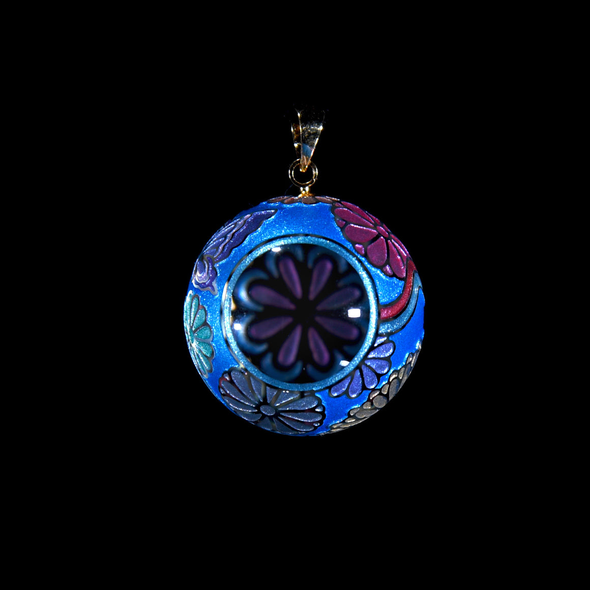 Butterfly Kaleidoscope Pendant - Royal