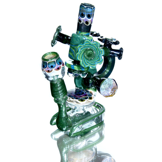 Collab - Darby-inspired Dichroic Linework/Dotstack Microscope - 14mm Male