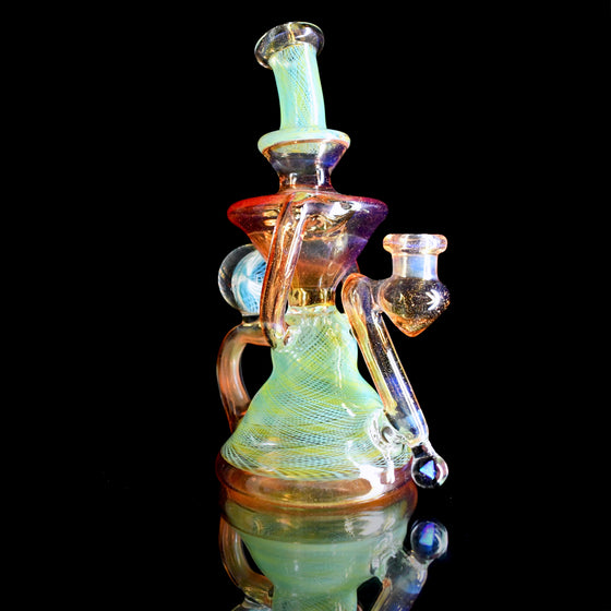 Fully-worked Klein Recycler - Citrus/Yellow Reti - 14mm Female