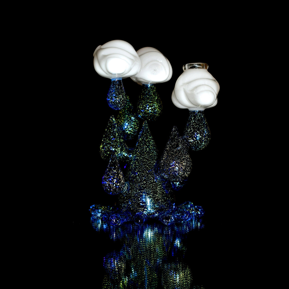 Dichro Raindrop Rig w/ Angel Dabber & matching Gordo cap - Dichroic/White - 14mm Female