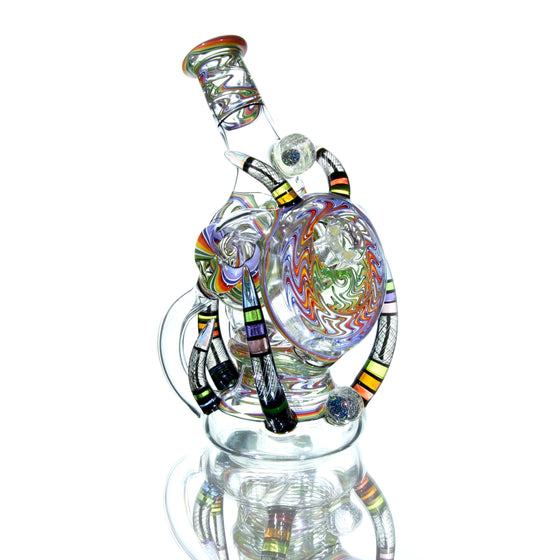 Collab - UV Reactive Opal'd-out Rewig Helitorium Dual-Recycler - 10mm Female