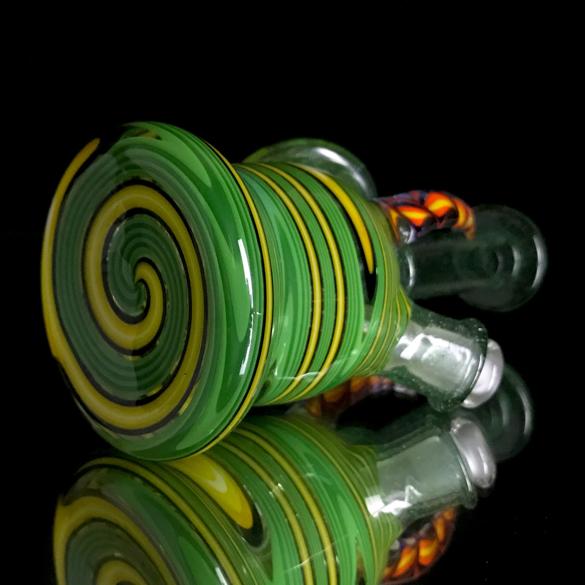 Fully-worked Mini Tube - Tropical Green/Jungle Linework - 10mm Female