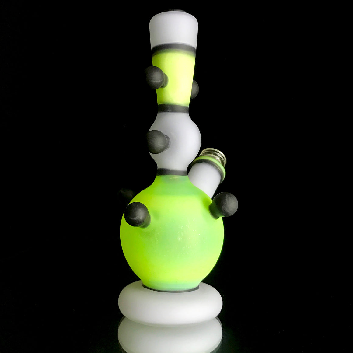 CFL Fully-Worked Vase Rig - Sandblasted Lavender Cheese/Satin Slyme - 10mm Female