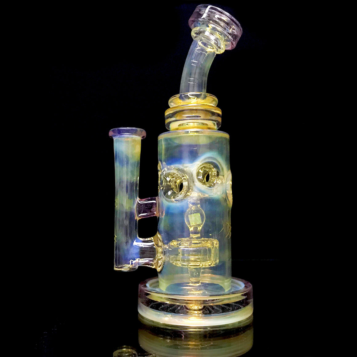 Fumed & Carved Straight Fab - CFL Phaze - 14mm Female