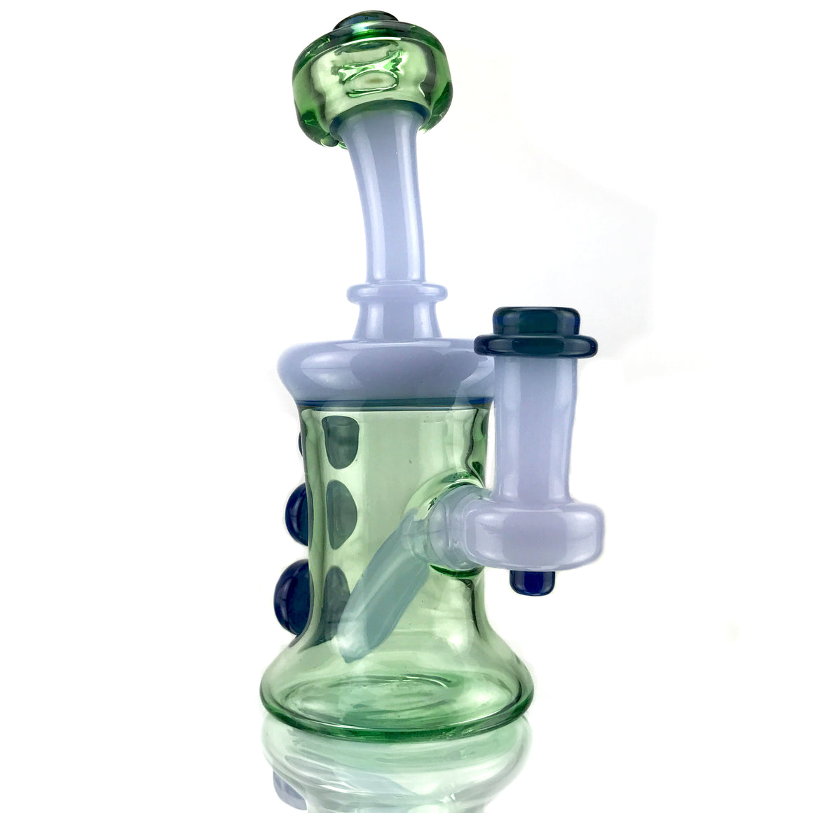 CFL Reactive Banger Hanger - Lavender Cheese/Electric Green - 10mm Female