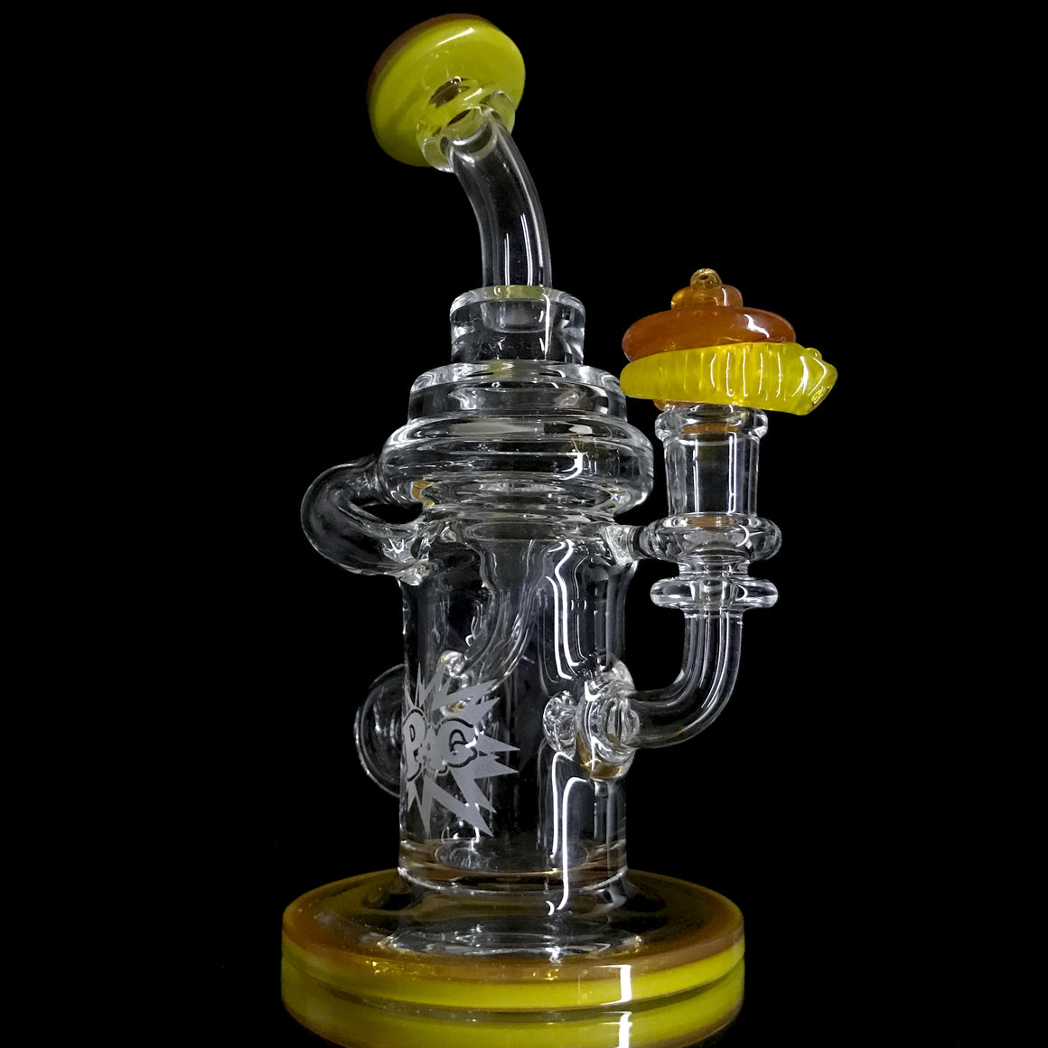 Klein Recycler - Chartreuse/Orange Crush - 14mm Female