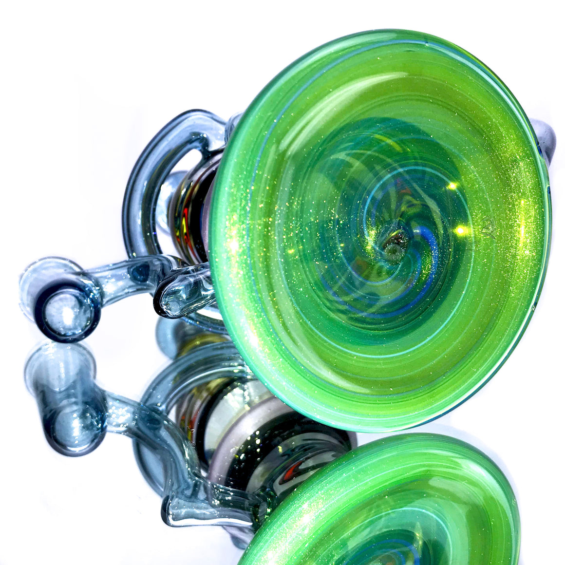 Double-uptake Floating Sphere K-Cycler- Transparent - 14mm Female