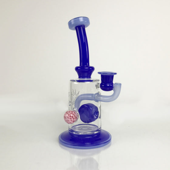 Hover Perc Rig - Royal Blue/Light Blue - 14mm Female