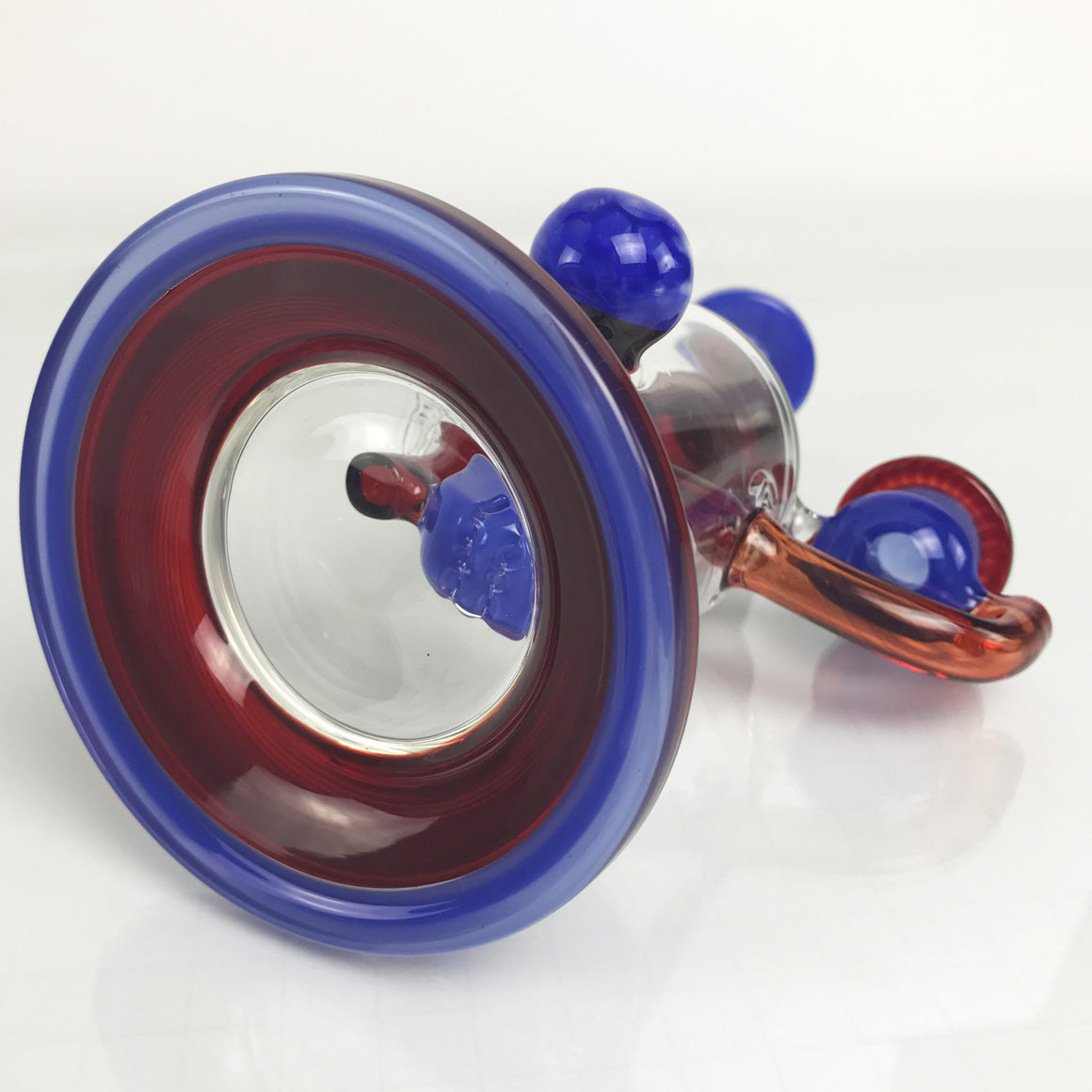 Hover Perc Rig - Red/Blue - 14mm Female